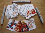 PROJECT PINUP SKETCH CARDS- COLOR PROGRESS 9/25/16 by AHochrein2010