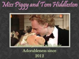 Miss Piggy and Tom Hiddleston by IluvTomHiddleston