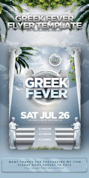 Greek Fever Flyer Template by arEa50oNe