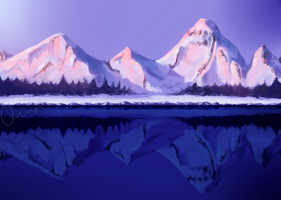 mountains by OEiaKayH