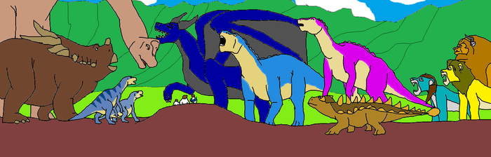 Dragon Squad Adventures: The Cretaceous ending by Dandinofthebluefire