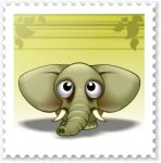 Cute Zoo - E for Elephant by DayDreamOz