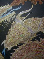 Red Dragon detail by AnnaDraconida