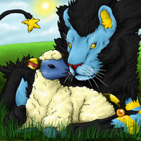 Lion + Lamb by 0Chaser