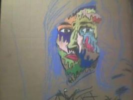 Beginning to my self portrait by LivingGreyFace