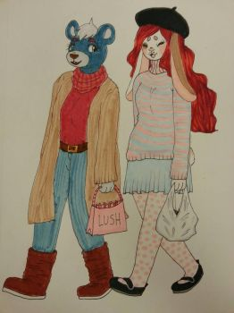 Tuesday and Berrie by takoninja