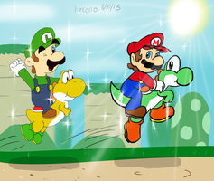 Collab: Hangin' with the Yoshis by Kincello