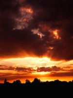 Sunset Over Bielefeld by ErinM2000