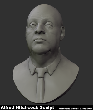 ZDoodle - Alfred Hitchcock - Bust by MarchandVenter