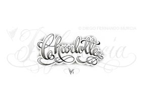 Charlotte lettering by dfmurcia