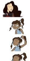 Korra lets her hair down by Das-BAMFchen