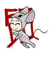 Year of the Rat Chibi by LilWolfStudios