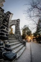 Sunset at the Castle Ruins by FabulaPhoto