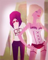 Joan and Cherrie by Andry-Shango