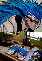 Bleach Grimmjow Blue by iareawesomeness