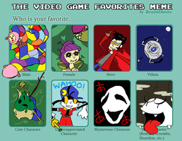Video Game Favorites Meme by CampbellDoesArt