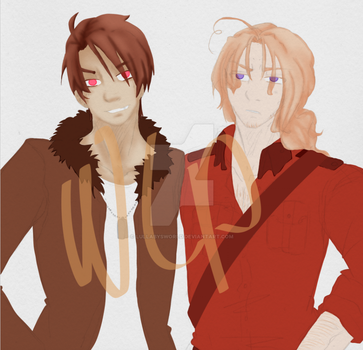 [Hetalia] 2P Brothers by LullabysWorld