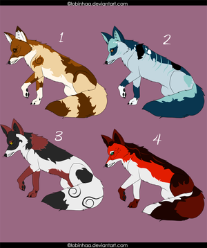 Fox adoptables 5 Point Each OPEN by Lobinhaa