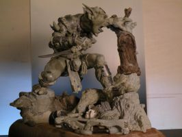 goblin6 sculpture work in prog by LucaStrati