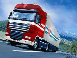 Optimus Prime as DAF-XF105 by hansime