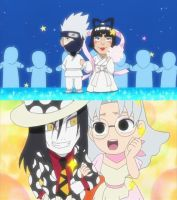 Kakashi wed's Gai and Orochimaru wed's Kabuto by Kakashidoe