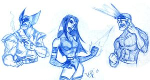 X-men Sketches 1 by derekblairart
