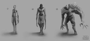 The Byss Project - Creature concepts 01 by mrNepa