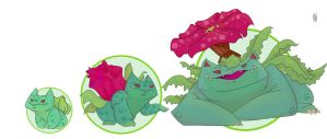 Bulbasaur Line by HGHaet