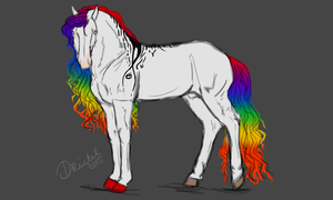 Design Auction: Rainbow White by Frozenstallion
