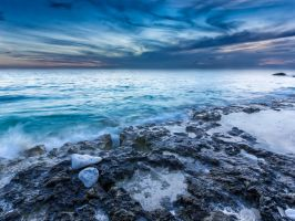 Glowing sea by peterpateman