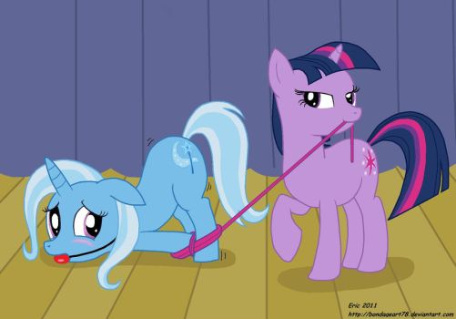 Twilight tying up Trixie by The-sinful78