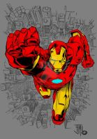 Iron Man by Francis Manapul (Colored) by TheComicBookMaster