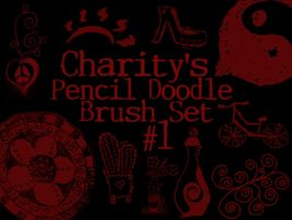Pencil Doodle Brush Set 1 by sevynstarr