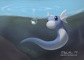 147 Dratini by EnigmaBerry
