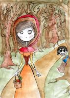 Tim B Style Red Riding Hood by icantstopdrawing