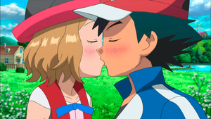 Satoshi and Serena ~ Love Kiss in Pallet Town by SatoshiLovesSerena