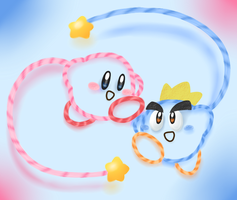 Kirby and Prince Fluff by Torkirby