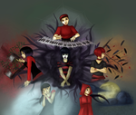 The Little Red Riding Hoods by Cassiopeie