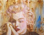 Marilyn Monroe - Watercolor and Color Pencils by ralphael50
