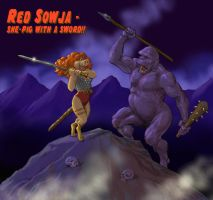TLIID 259 Muppets return - Miss Piggy as Red Sonja by Nick-Perks