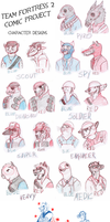 Team Fortress 2 character designs by Lubbiz