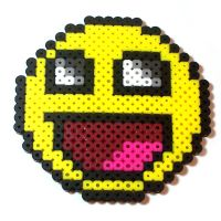 Perler Awesome Face by Jennifer-EA