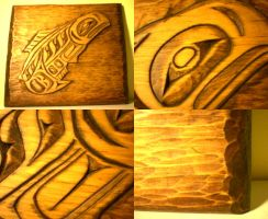 haida style salmon carving by Makaiya