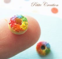 rainbow donut earrings1 by PetiteCreation