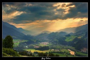 End Of The Day In The Valley by piur1241