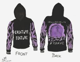 Creature Feature - Invented hoodie design by MiniAliceSuperstar