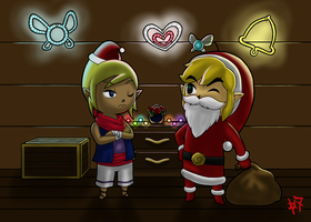 Christmas with Link and Tetra by Zaziki7