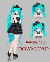 [MMD] Hatsune Miku - Asker Online Cosplay DL by MirelHelly