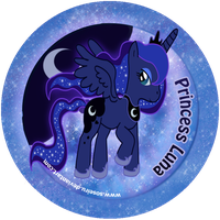 Princess Luna Button by CosmicLabCreations