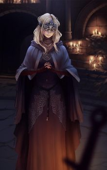 Fire keeper, Dark Souls 3 fan art by rafaarsen